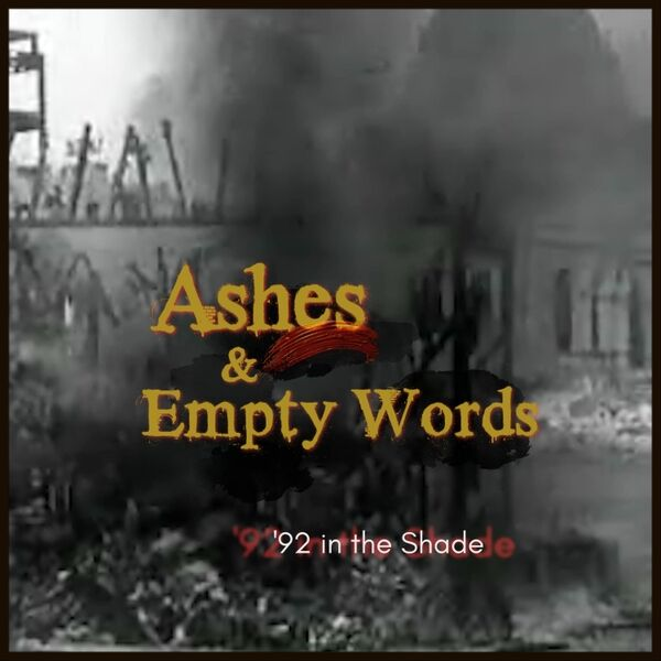 Cover art for Ashes & Empty Words